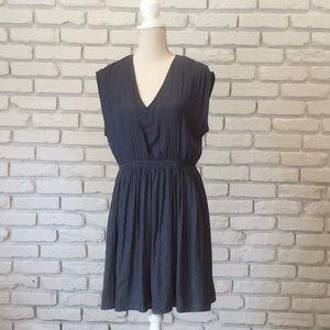 Small gray/blue LOFT dress.